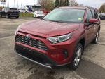 Red[Ruby Flare Pearl] 2021 Toyota RAV4 Left Front Corner Photo in Brockville ON