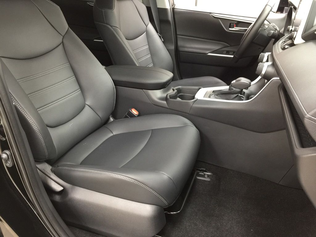 Black[Midnight Black Metallic] 2021 Toyota RAV4 XLE Premium Right Side Front Seat  Photo in Sherwood Park AB