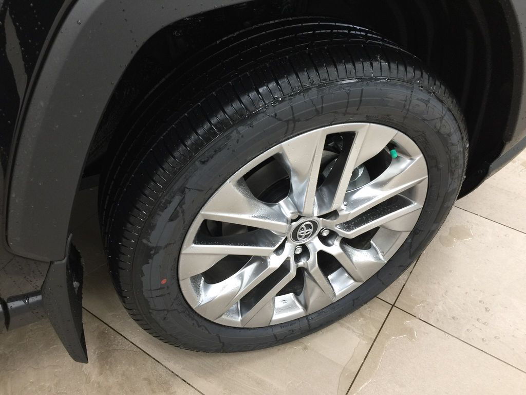 Black[Midnight Black Metallic] 2021 Toyota RAV4 XLE Premium Right Front Rim and Tire Photo in Sherwood Park AB