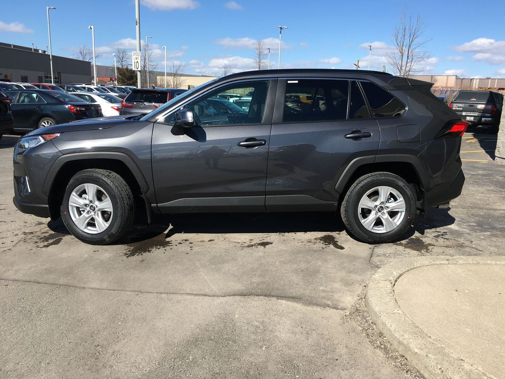Gray[Magnetic Grey Metallic] 2021 Toyota RAV4 AWD XLE Standard Package R1RFVT AM Engine Compartment Photo in Brampton ON