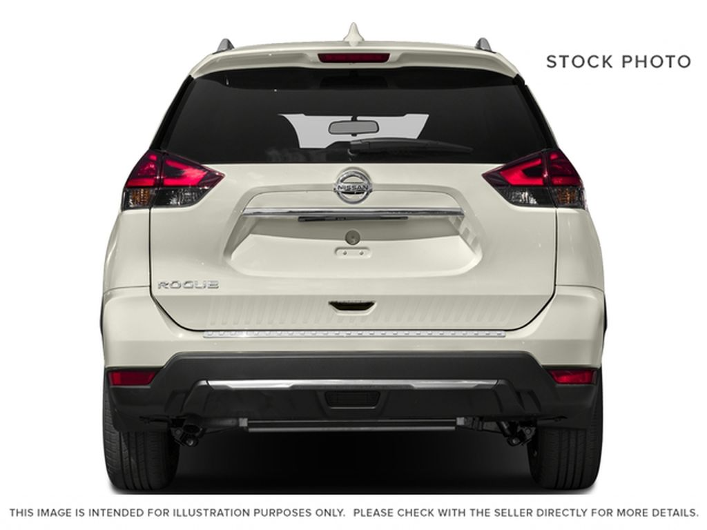 Red[Palatial Ruby Metallic] 2017 Nissan Rogue SV Rear of Vehicle Photo in Calgary AB