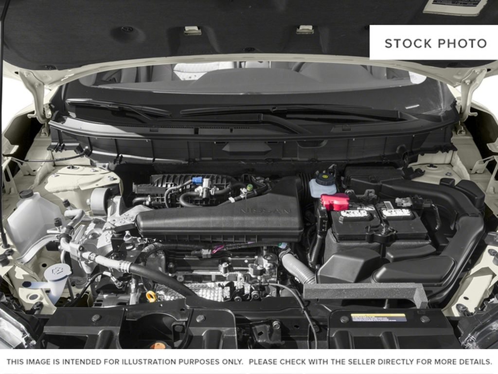Red[Palatial Ruby Metallic] 2017 Nissan Rogue SV Engine Compartment Photo in Calgary AB