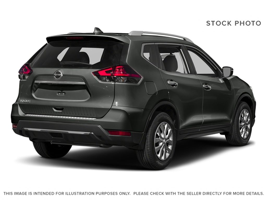 Red[Palatial Ruby Metallic] 2017 Nissan Rogue SV Right Rear Corner Photo in Calgary AB