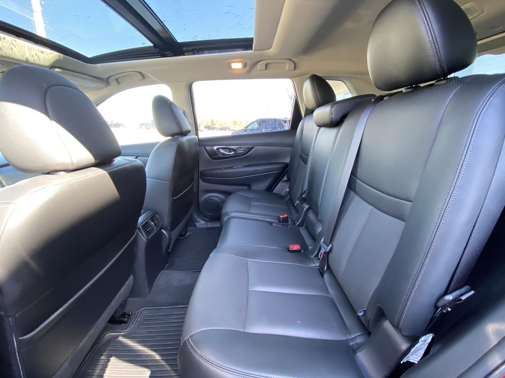Red[Palatial Ruby Metallic] 2017 Nissan Rogue SL AWD Left Side Rear Seat  Photo in Calgary AB