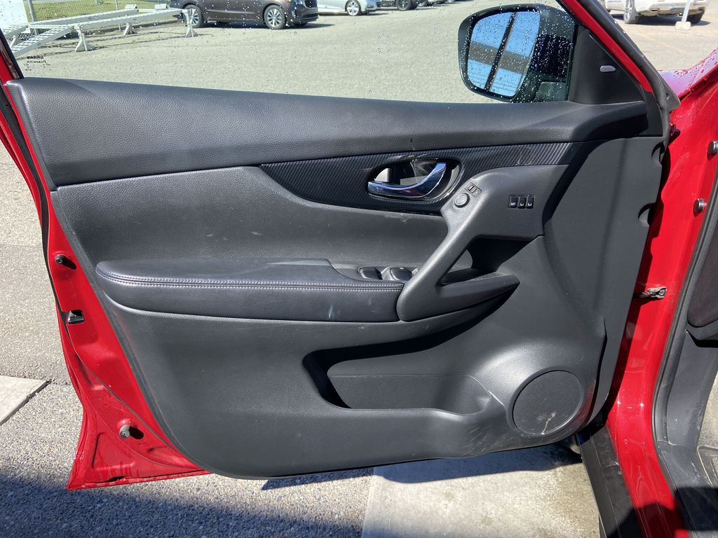 Red[Palatial Ruby Metallic] 2017 Nissan Rogue SL AWD Left Front Interior Door Panel Photo in Calgary AB
