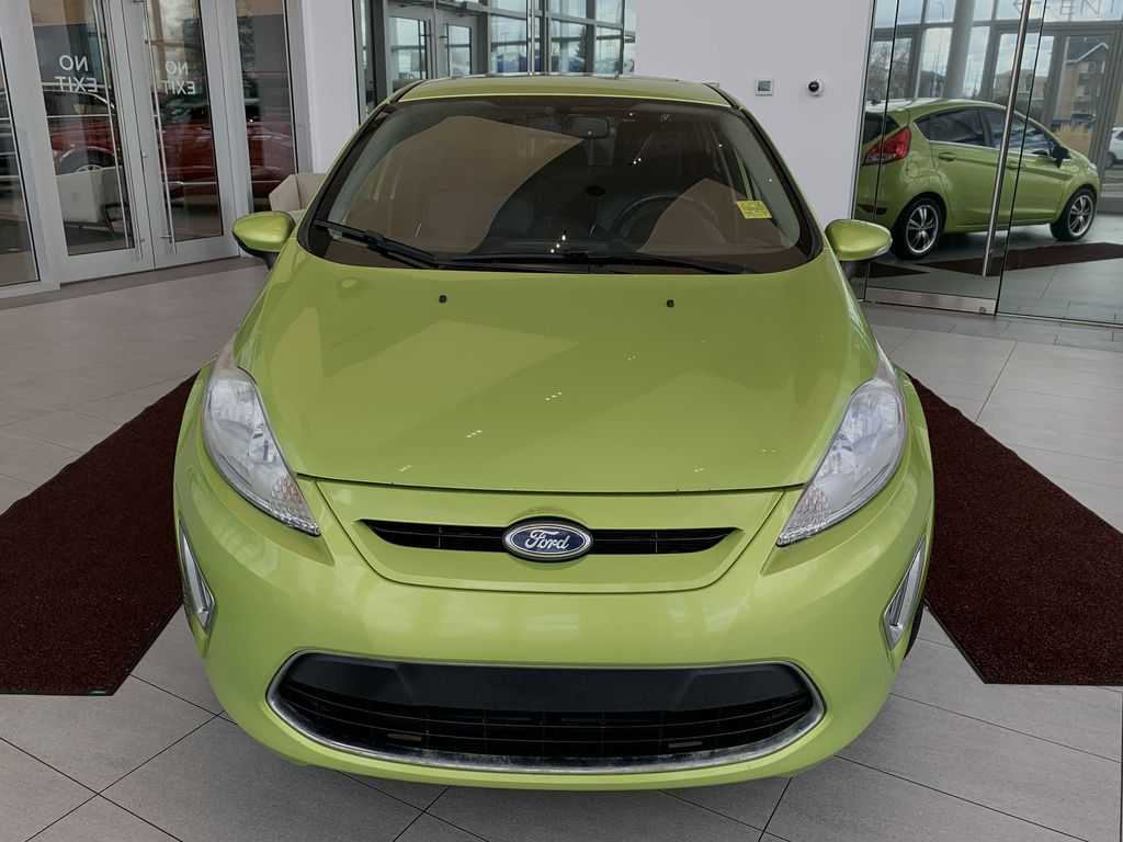 Green[Lime Squeeze Metallic] 2011 Ford Fiesta Front Vehicle Photo in Edmonton AB