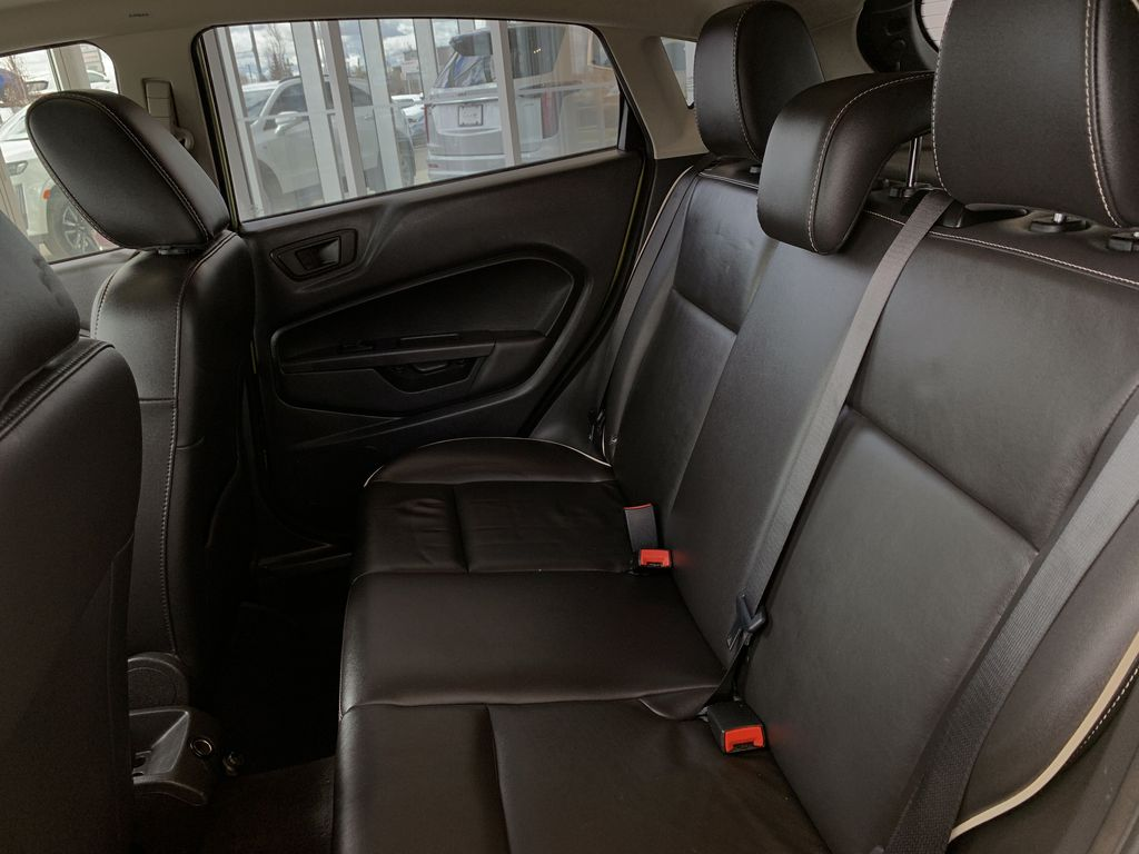 Green[Lime Squeeze Metallic] 2011 Ford Fiesta Left Side Rear Seat  Photo in Edmonton AB
