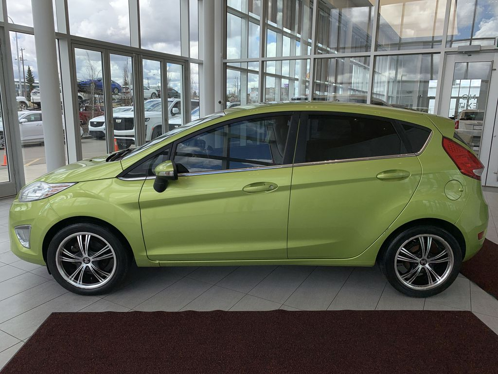 Green[Lime Squeeze Metallic] 2011 Ford Fiesta Left Side Photo in Edmonton AB