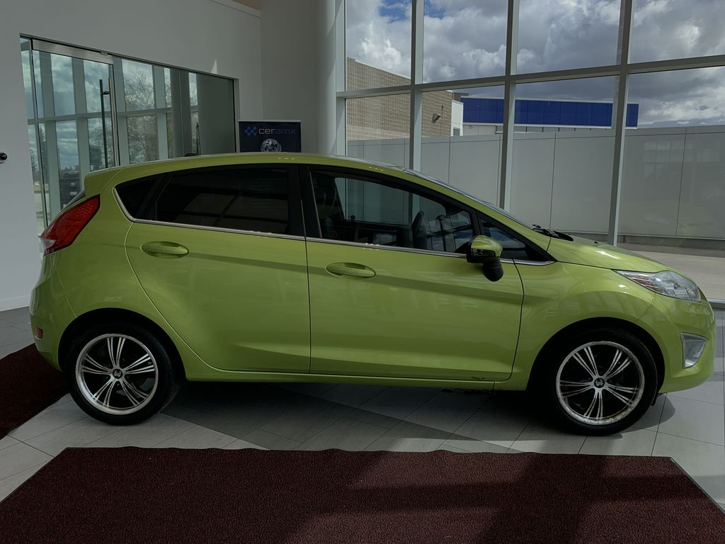 Green[Lime Squeeze Metallic] 2011 Ford Fiesta Right Side Photo in Edmonton AB