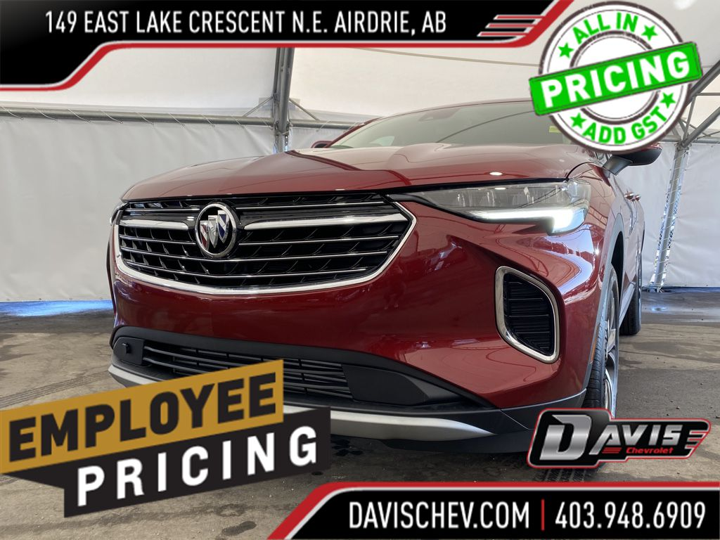 Grey 2021 Buick Envision Left Front Corner Photo in Airdrie AB