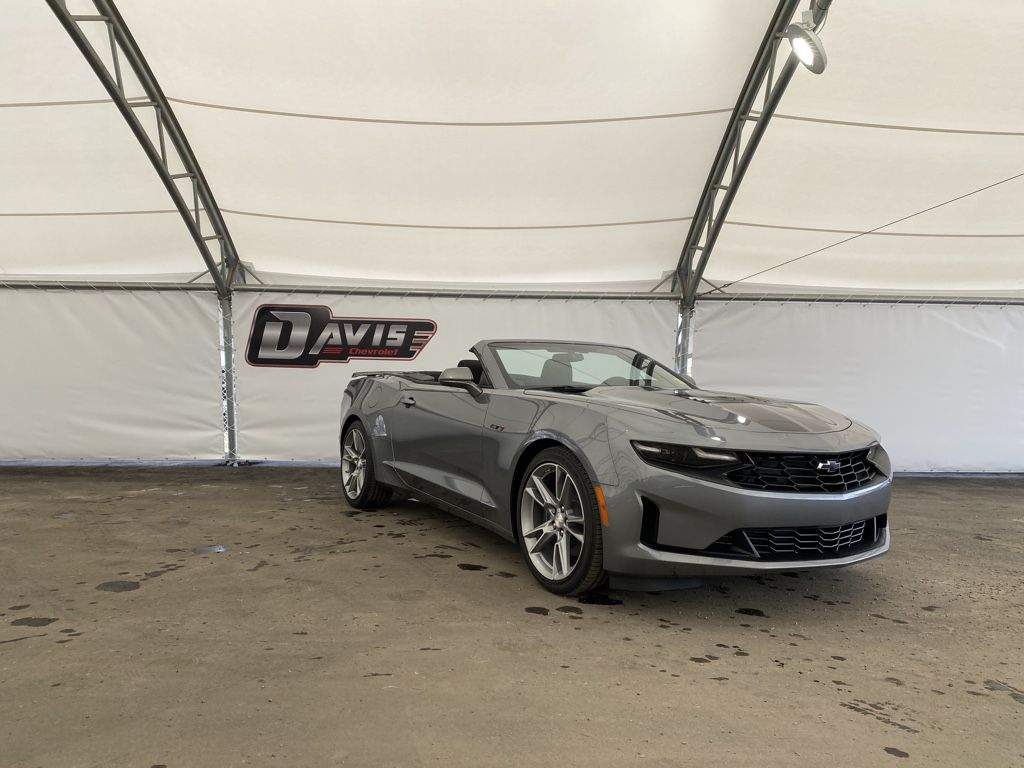 Dark Grey 2021 Chevrolet Camaro Steering Wheel and Dash Photo in Airdrie AB