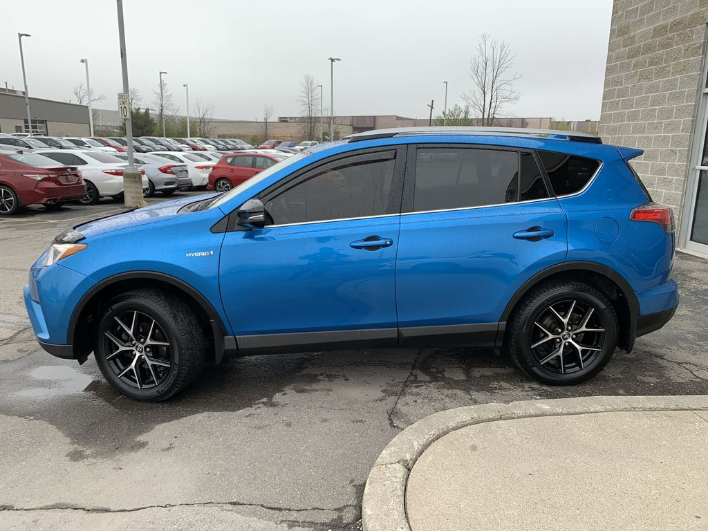 Blue[Electric Storm Blue] 2018 Toyota RAV4 Left Front Rim and Tire Photo in Brampton ON