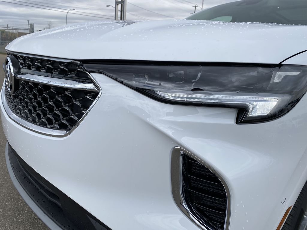 White[Summit White] 2021 Buick Envision Left Front Head Light / Bumper and Grill in Edmonton AB