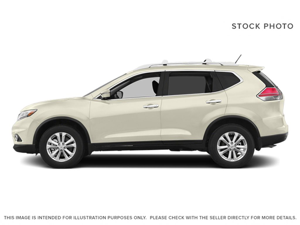 White[Moonlight White Pearl] 2014 Nissan Rogue Left Side Photo in Fort Macleod AB