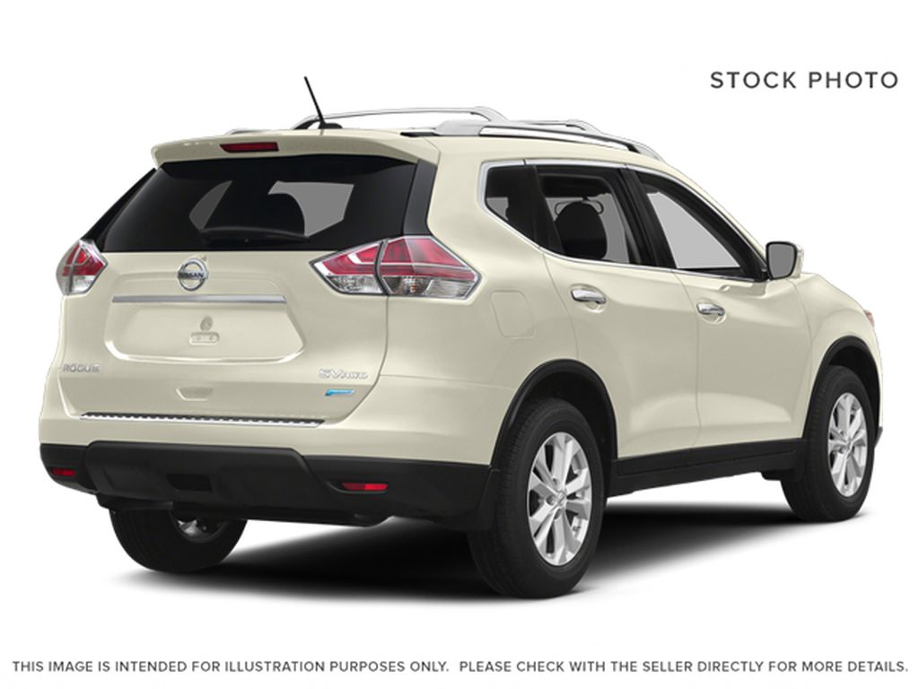White[Moonlight White Pearl] 2014 Nissan Rogue Right Rear Corner Photo in Fort Macleod AB