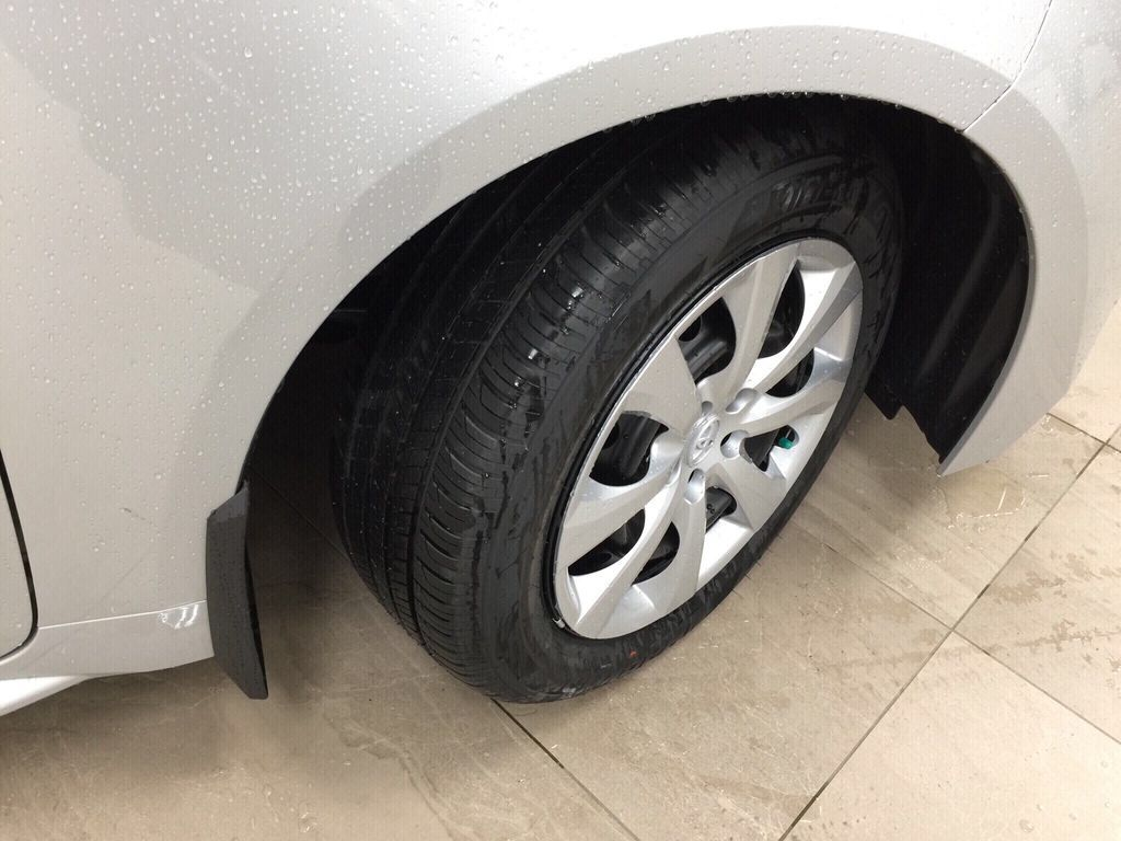 Silver[Classic Silver Metallic] 2021 Toyota Corolla LE Right Front Rim and Tire Photo in Sherwood Park AB