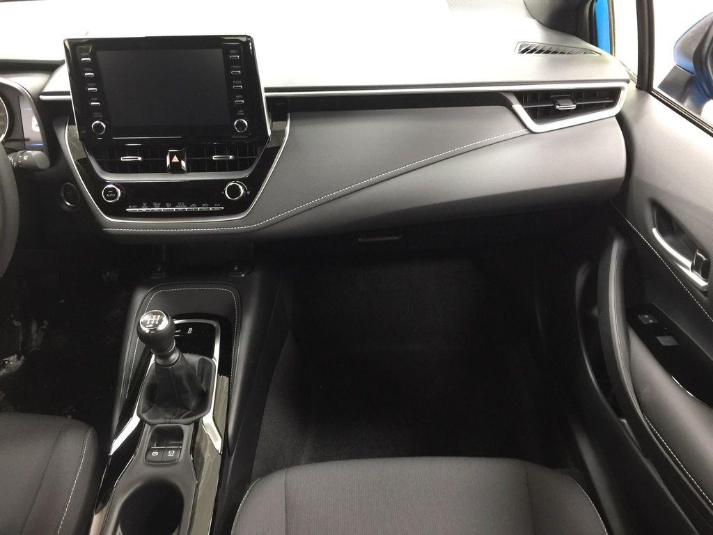 Blue[Blue Flame] 2021 Toyota Corolla SE Hatchback Right Front Seat Photo in Sherwood Park AB