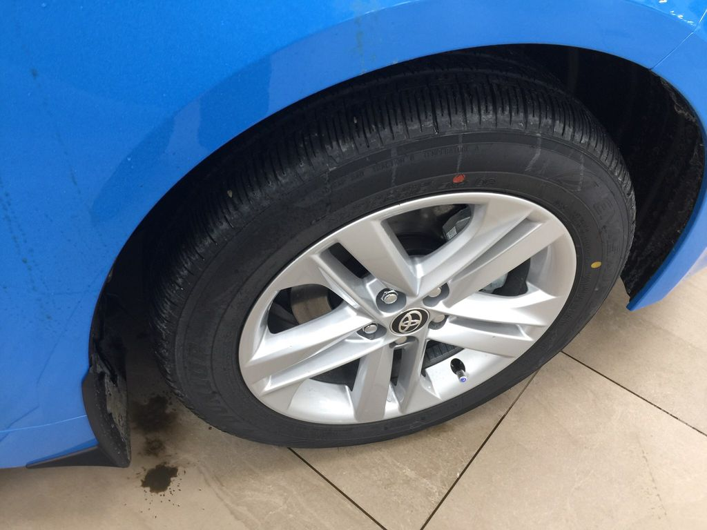 Blue[Blue Flame] 2021 Toyota Corolla SE Hatchback Right Front Rim and Tire Photo in Sherwood Park AB