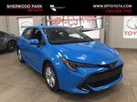 Blue[Blue Flame] 2021 Toyota Corolla SE Hatchback Primary Listing Photo in Sherwood Park AB