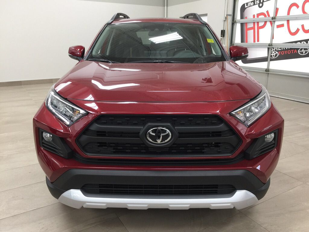 Red[Ruby Flare Pearl] 2021 Toyota RAV4 Trail Front Vehicle Photo in Sherwood Park AB