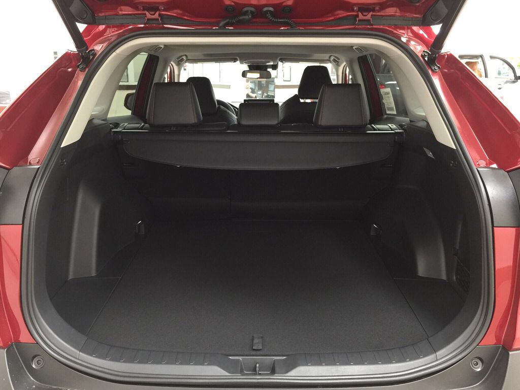 Red[Ruby Flare Pearl] 2021 Toyota RAV4 Trail Cargo Area/Rear Seats Photo in Sherwood Park AB