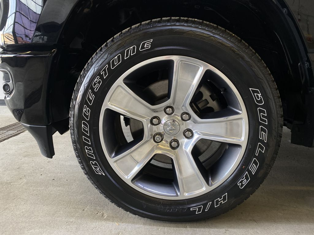 BLACK 2019 Ram 1500 - Bluetooth, Remote Start, Backup Camera, XM Radio Left Front Rim and Tire Photo in Edmonton AB