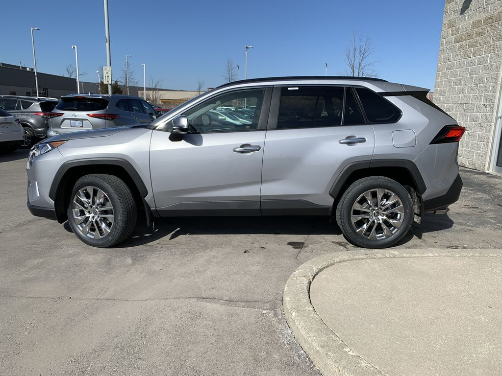 Silver[Silver Sky Metallic] 2021 Toyota RAV4 AWD Limited Standard Package D1RFVT AM Left Front Rim and Tire Photo in Brampton ON