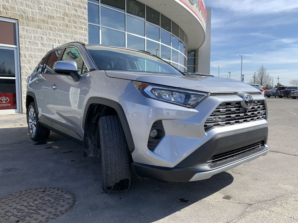 Silver[Silver Sky Metallic] 2021 Toyota RAV4 AWD Limited Standard Package D1RFVT AM Engine Compartment Photo in Brampton ON