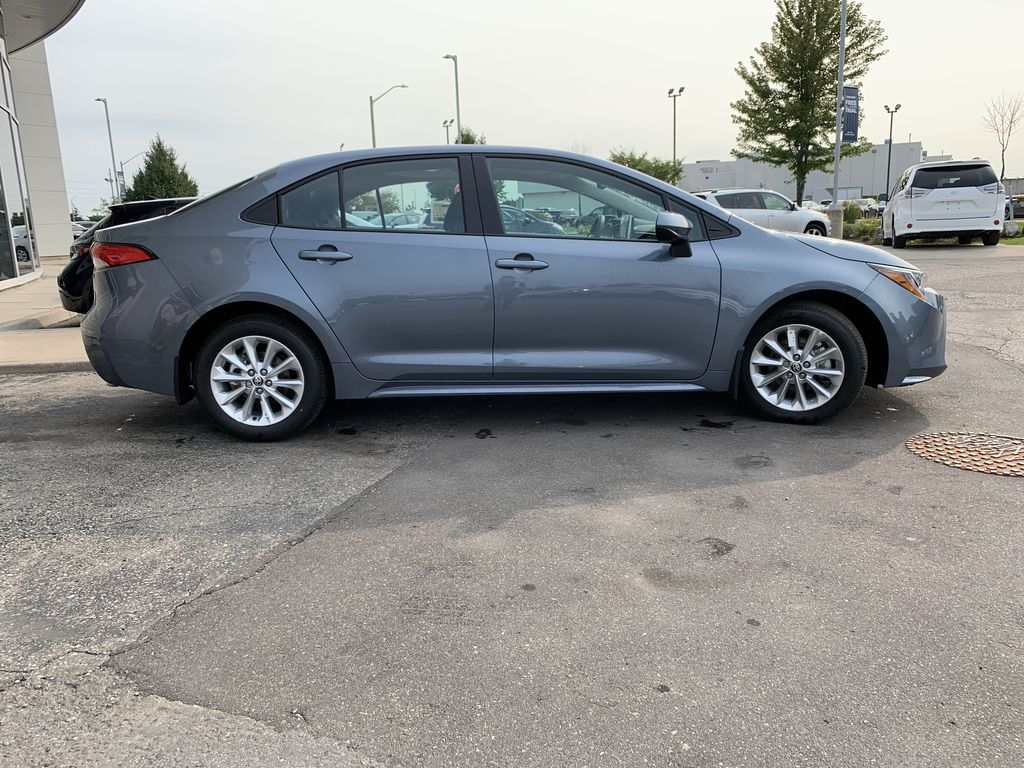 Silver[Celestite] 2021 Toyota Corolla LE Upgrade Package BPRBLC BM Front Vehicle Photo in Brampton ON