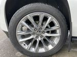 White[Crystal White Tricoat] 2019 Cadillac Escalade ESV Left Front Rim and Tire Photo in Calgary AB