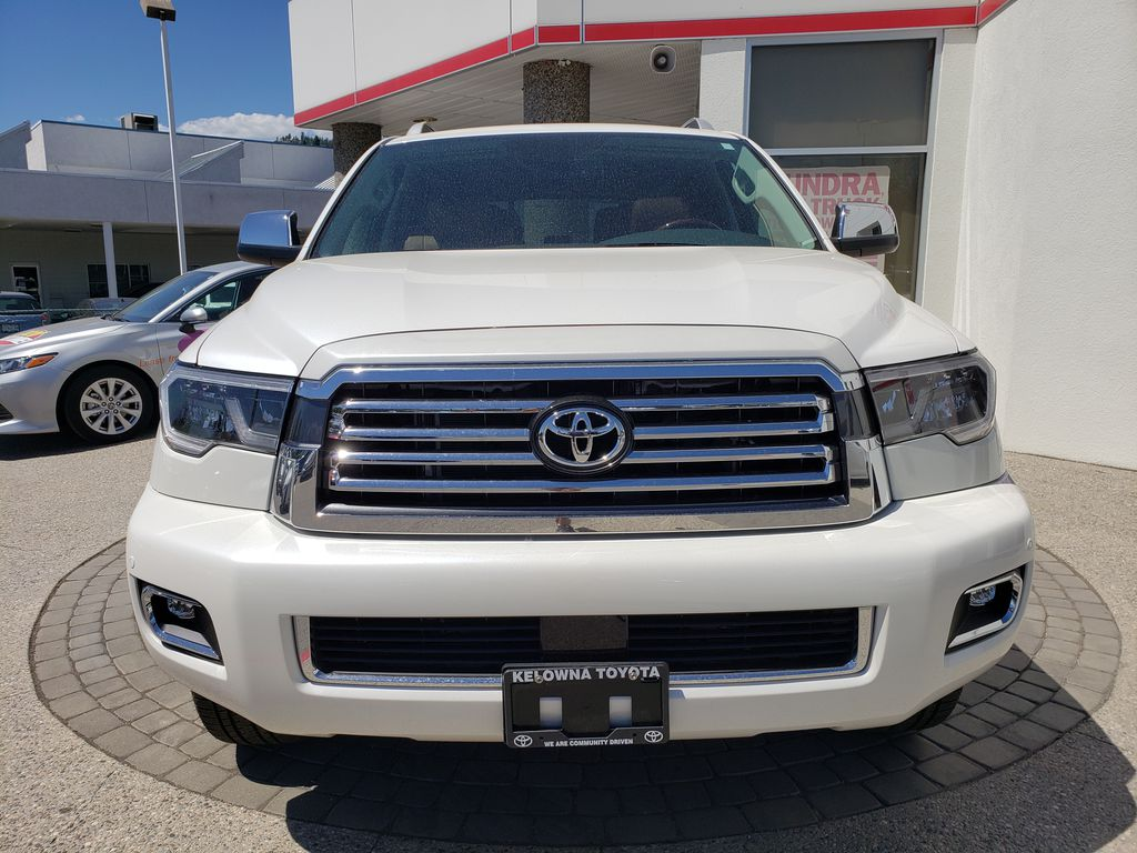 White[Blizzard Pearl] 2021 Toyota Sequoia Front Vehicle Photo in Kelowna BC