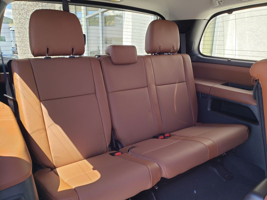 White[Blizzard Pearl] 2021 Toyota Sequoia Right Side Rear Seat  Photo in Kelowna BC