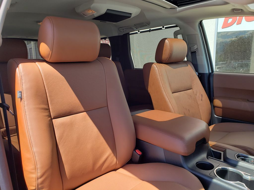 White[Blizzard Pearl] 2021 Toyota Sequoia Right Side Front Seat  Photo in Kelowna BC