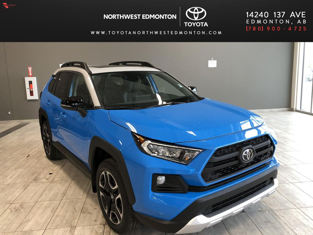 Blue Flame w/Ice Edge Roof 2021 Toyota RAV4 Trail
