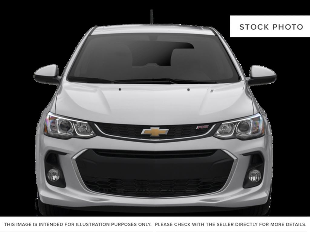 Black 2017 Chevrolet Sonic Front Vehicle Photo in Medicine Hat AB