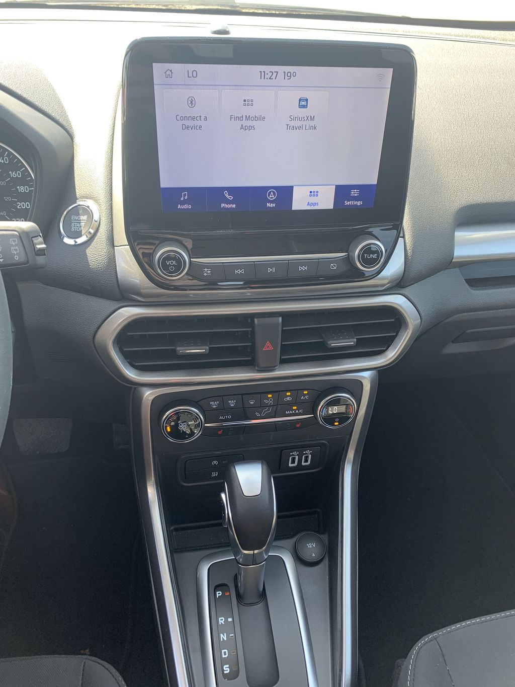Silver[Moondust Silver Metallic] 2020 Ford EcoSport Central Dash Options Photo in Brandon MB