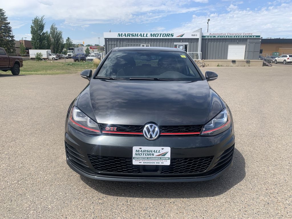 Gray[Carbon Steel Metallic] 2015 Volkswagen Golf GTI 5dr HB Man Performance *210HP!* *Turbocharged* Front Vehicle Photo in Brandon MB