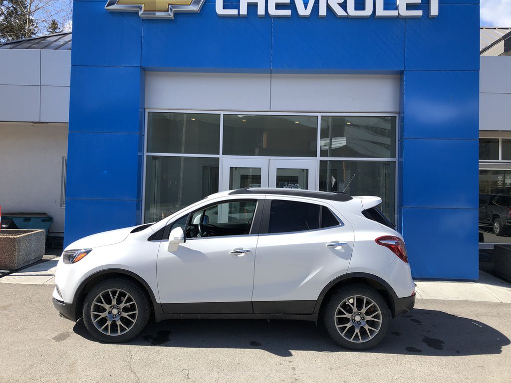 White[Summit White] 2017 Buick Encore CX Left Side Photo in Canmore AB
