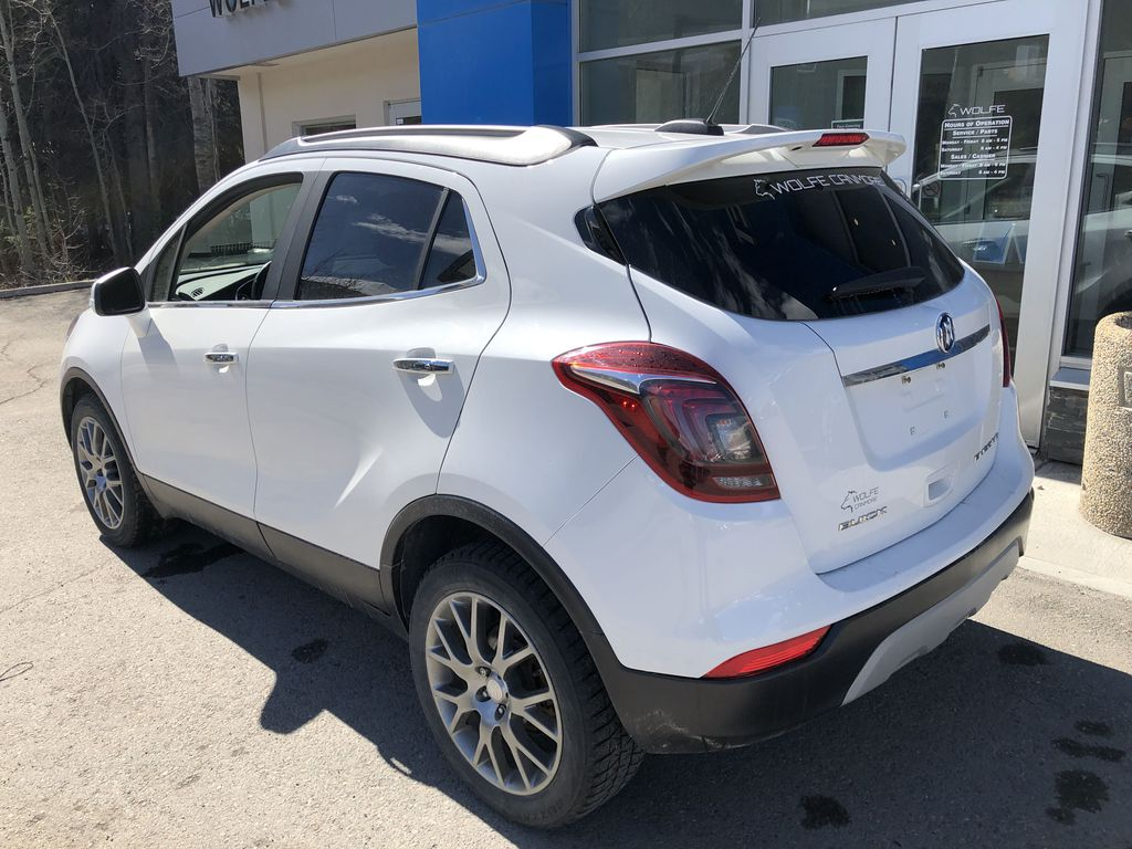 White[Summit White] 2017 Buick Encore CX Left Rear Corner Photo in Canmore AB