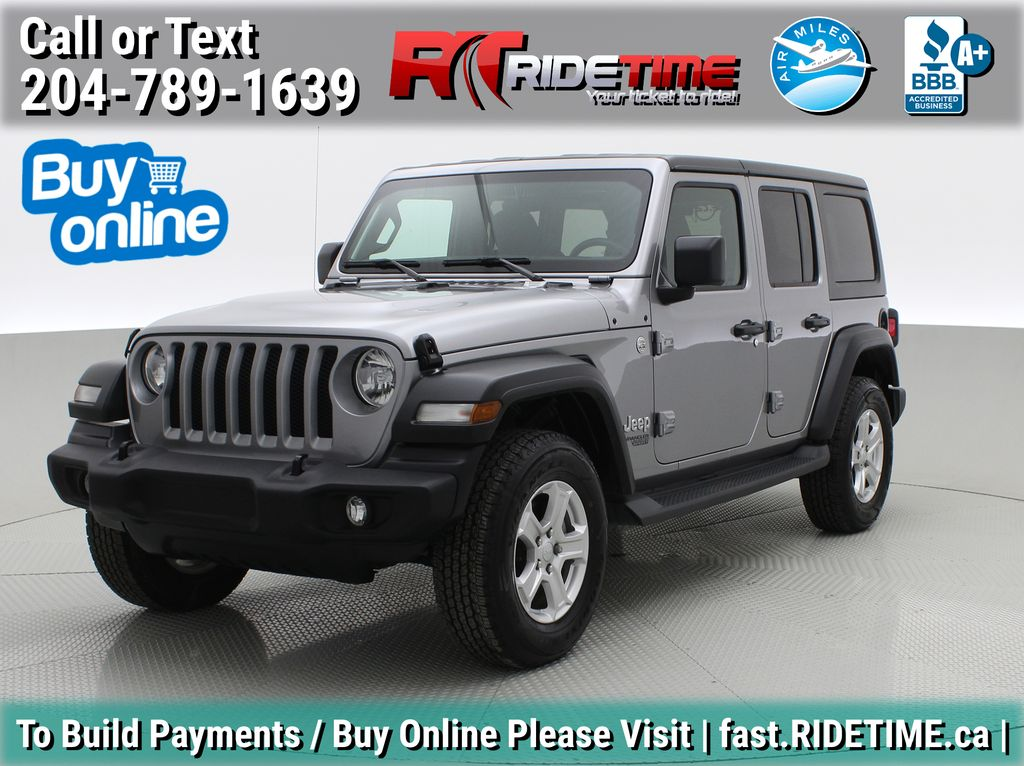 Silver[Billet Metallic] 2019 Jeep Wrangler Unlimited Sport 'S' 4WD - Hard and Soft Top, AUTO