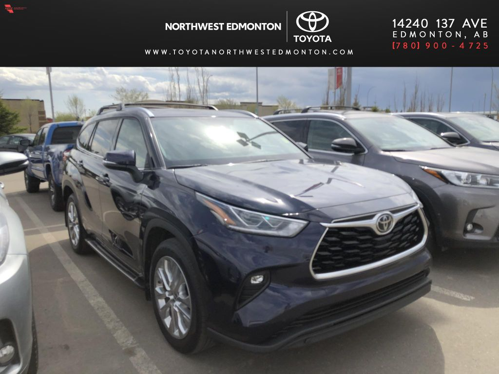 Blue 2020 Toyota Highlander Limited