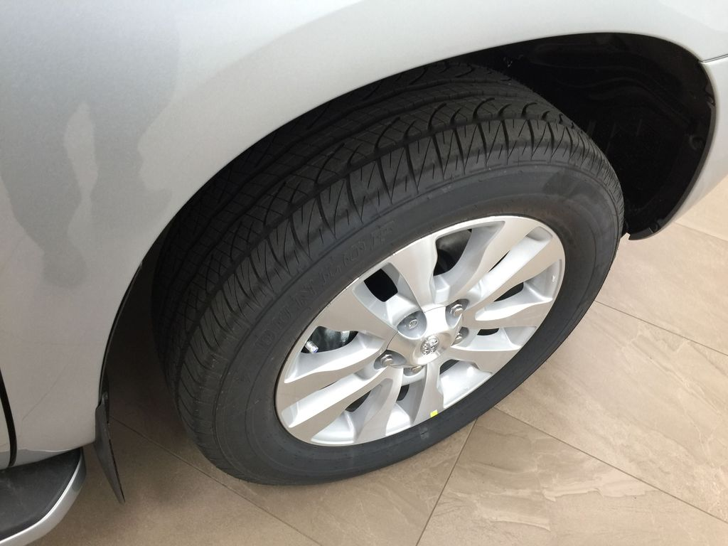 Silver[Celestial Silver Metallic] 2021 Toyota Sequoia Platinum Right Front Rim and Tire Photo in Sherwood Park AB