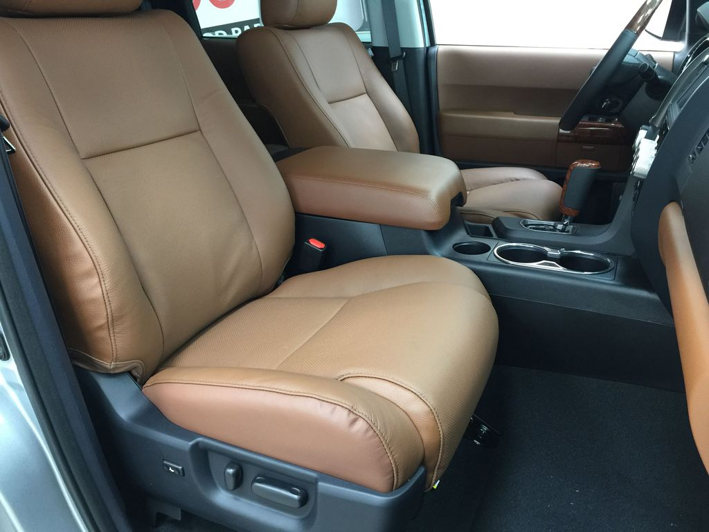 Silver[Celestial Silver Metallic] 2021 Toyota Sequoia Platinum Right Side Front Seat  Photo in Sherwood Park AB