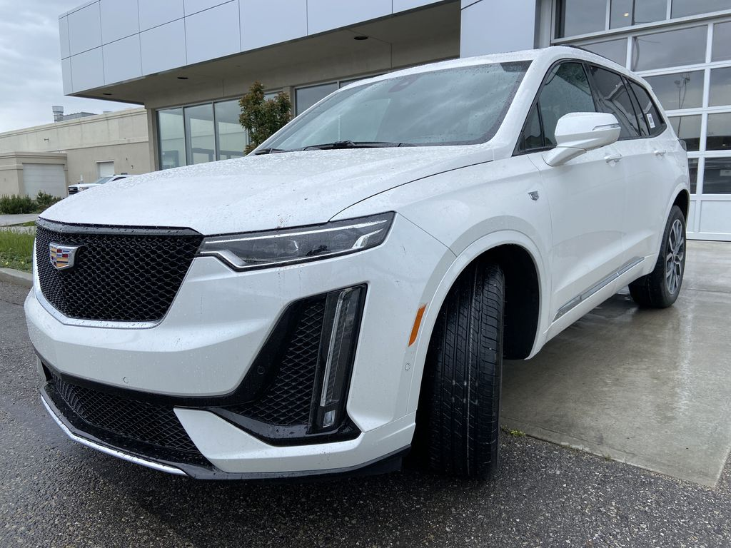 White[Crystal White Tricoat] 2021 Cadillac XT6 Sport Left Front Head Light / Bumper and Grill in Calgary AB