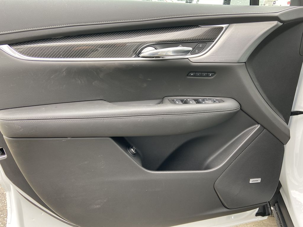 White[Crystal White Tricoat] 2021 Cadillac XT6 Sport Left Front Interior Door Panel Photo in Calgary AB