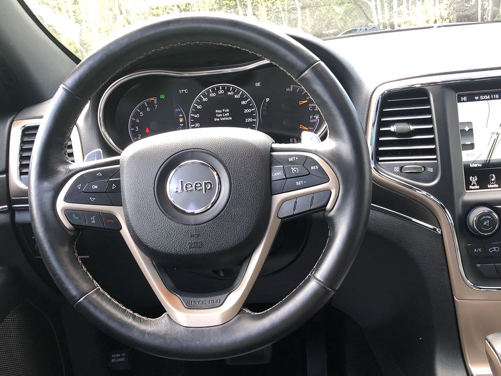 Gray[Granite Crystal Metallic] 2016 Jeep Grand Cherokee Limited Strng Wheel: Frm Rear in Canmore AB