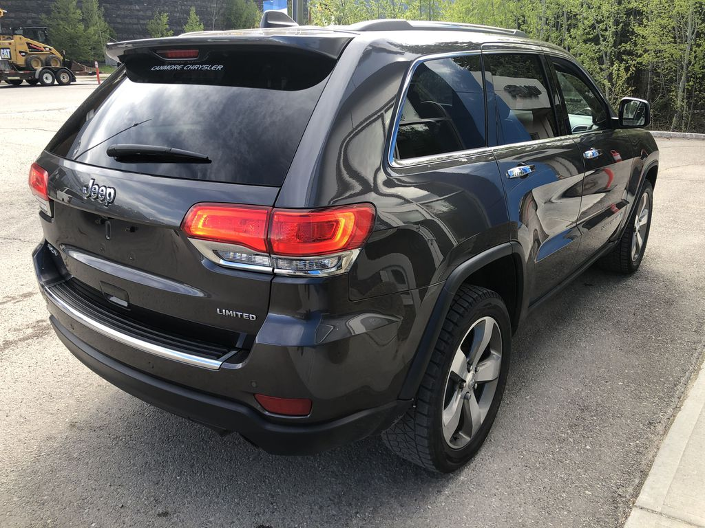 Gray[Granite Crystal Metallic] 2016 Jeep Grand Cherokee Limited Right Rear Corner Photo in Canmore AB