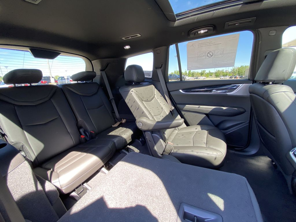 White[Crystal White Tricoat] 2021 Cadillac XT6 Premium Luxury Right Side Rear Seat  Photo in Calgary AB