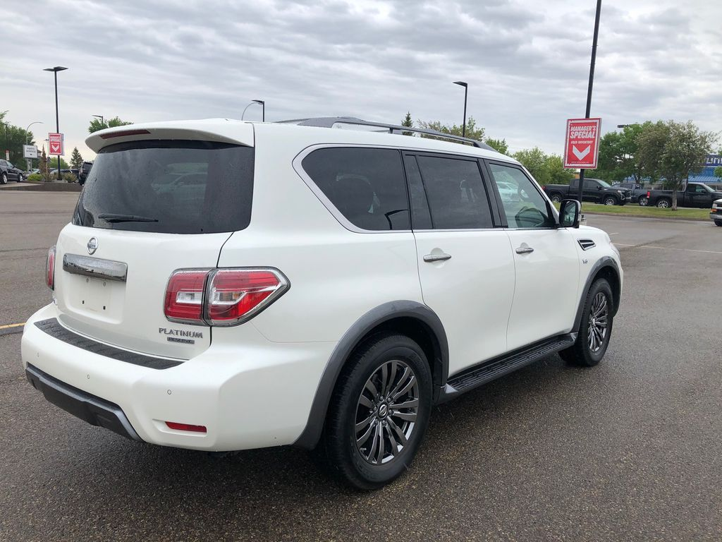 White 2018 Nissan Armada Left Front Rim and Tire Photo in Lethbridge AB