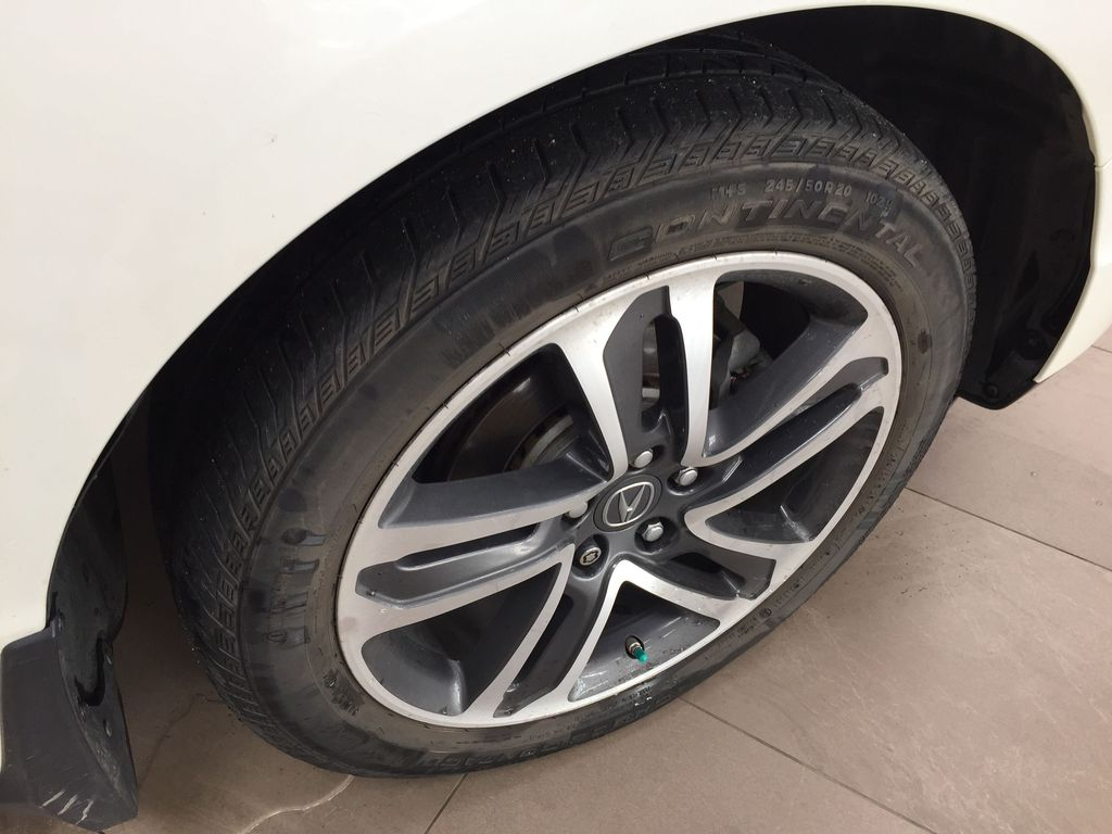 White[White Diamond Pearl] 2017 Acura MDX SH-AWD w/Navigation Right Front Rim and Tire Photo in Sherwood Park AB